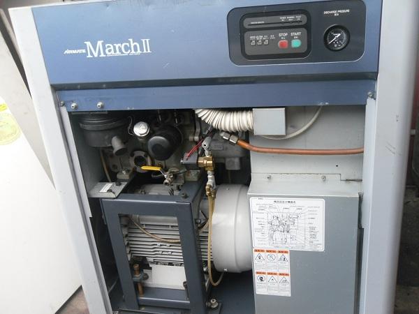 bán máy nén khí trục vít cũ, may nen khi truc vit Kobelco