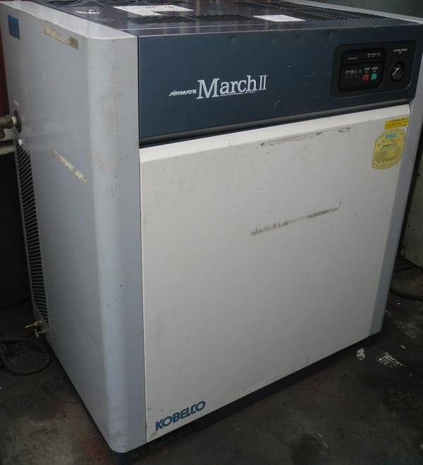 bán máy nén khí trục vít cũ kobelco 11 kW