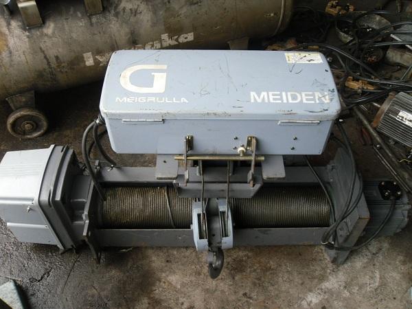 Tời điện cũ Meiden Nhật Bản sức nâng 1 tấn, chiều cao nâng 12m